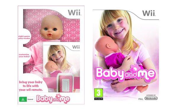 Nintendo Wii Baby and Me includes a toy doll with motion control which comes to life after the remote is inserted in its back