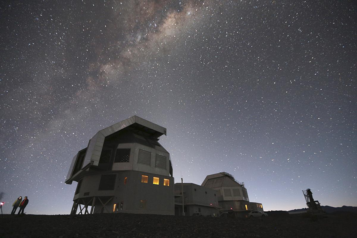 The team used the Magellen Telescopes at Las Campanas Observatory, Chile, to take readings of the faint dwarf galaxy (Photo: MIT)