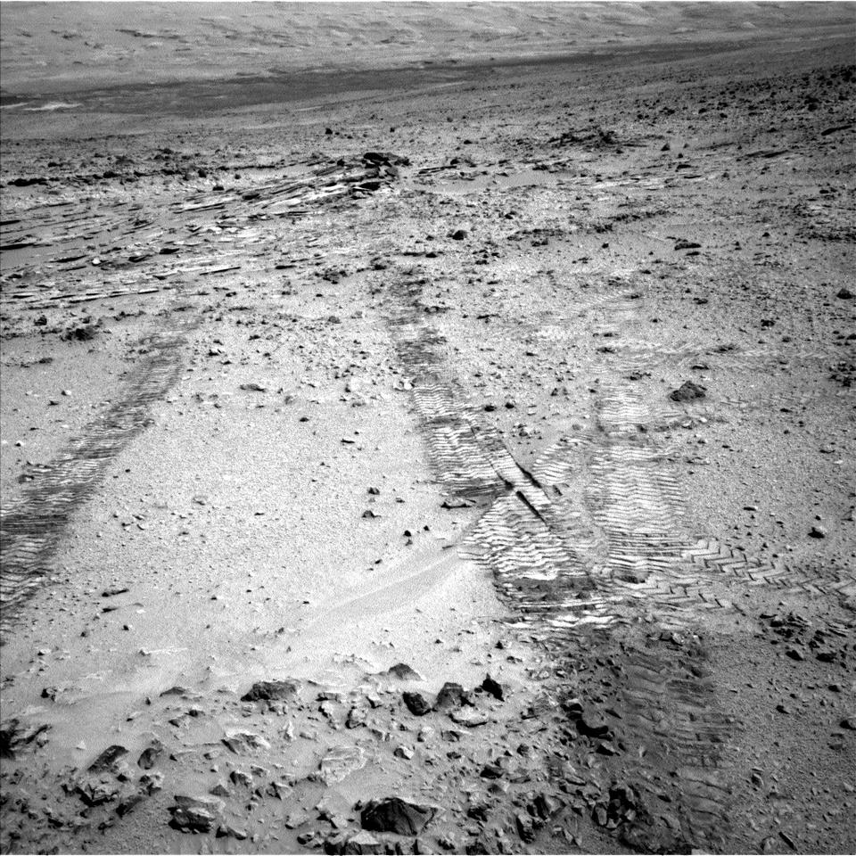 Shaler area as Curiosity began its trek (Image: NASA/JPL-Caltech)