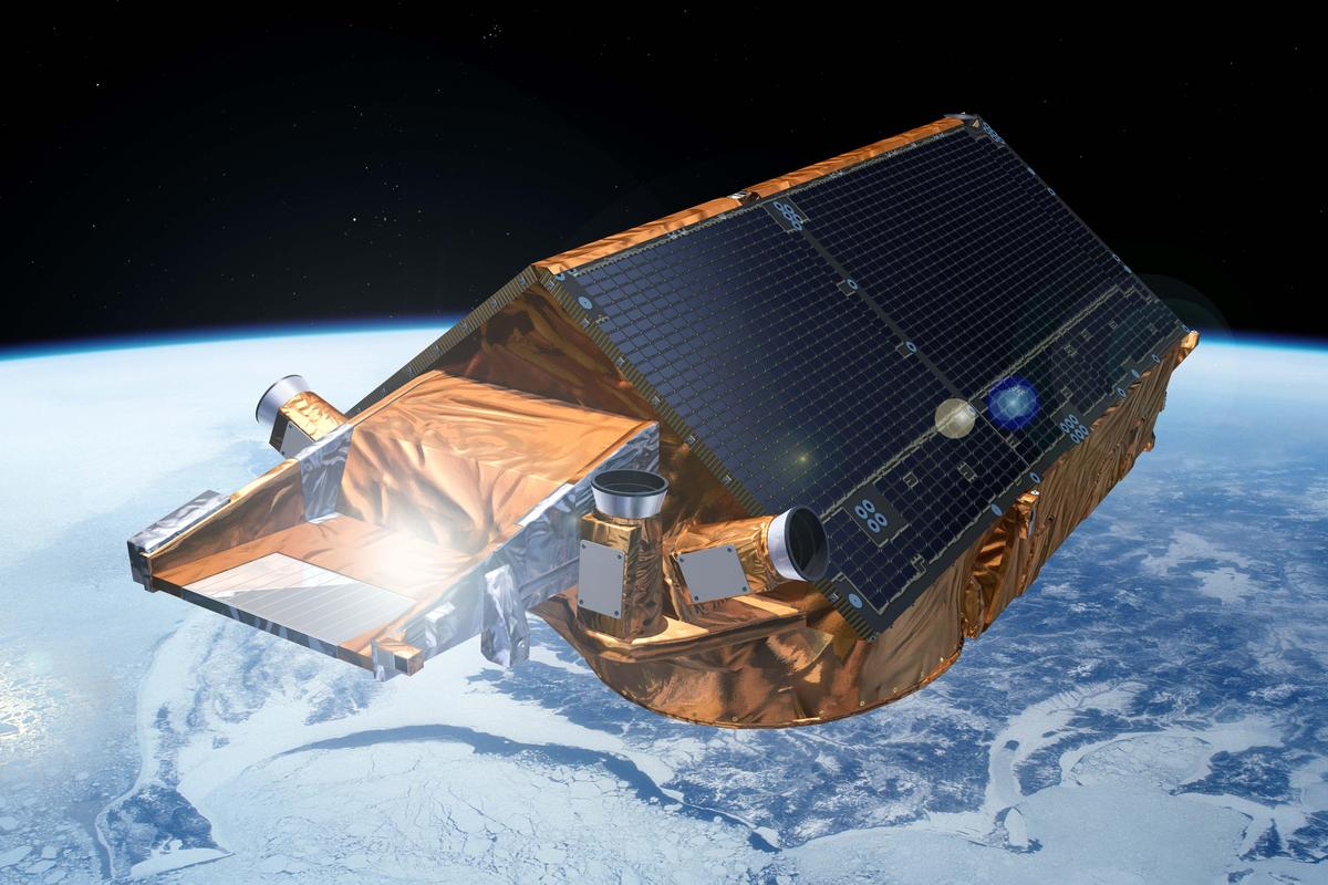 The new CryoSat measurements show a 6.4 percent decrease in the volume of Arctic sea ice (Image: ESA)