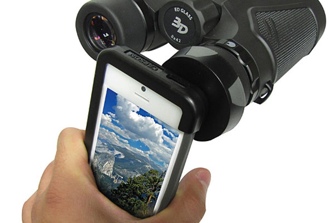 Carson Optical's binocular adaptor for iPhone 5