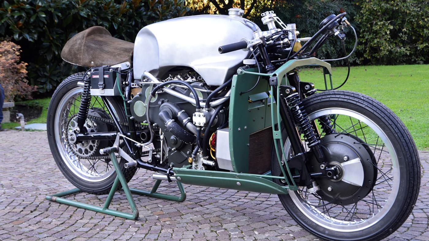 The star lot of Coys auction will undoubtedly be this Moto Guzzi V8 Grand Prix Racer. Estimated at £190,000 to £220,000 ($270,000 to $315,000) it may fetch even more than that if the right people want it. It will be worth watching to see what happens with this bike - if it were a real one, it would most likely sell for a lot more and would potentially threaten the world motorcycle auction record.