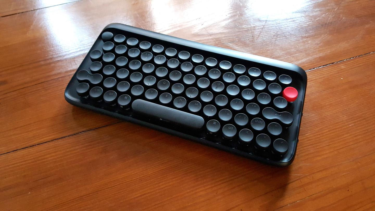 The Lofree keyboard needs to have its backlight on in order to see the letters on the keys