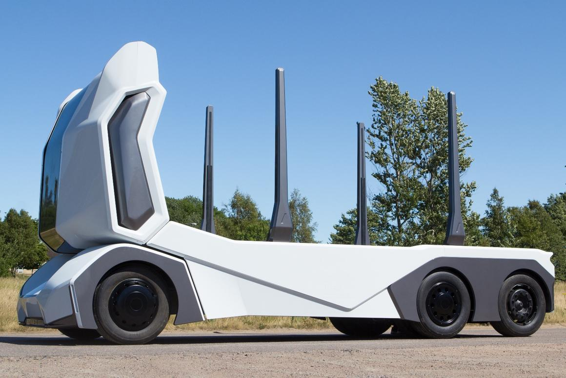The T-log can operate as a Level 4 self-driving vehicle