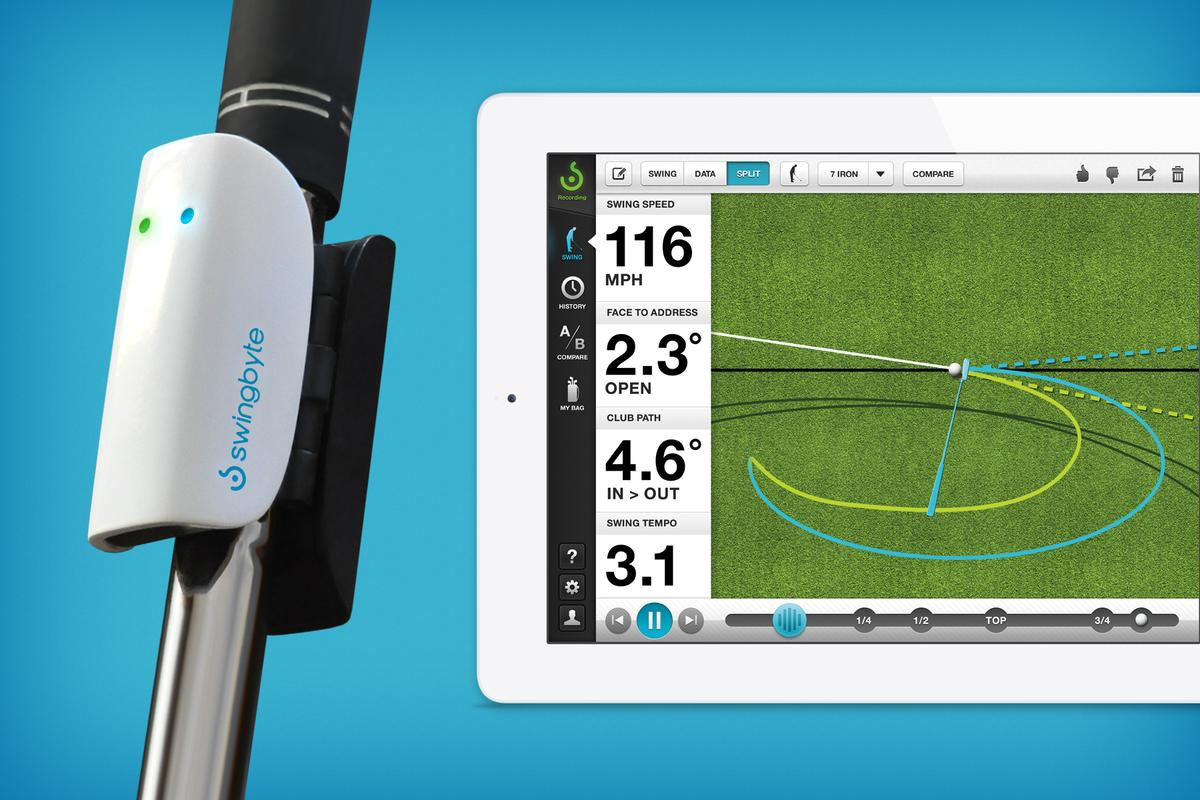 Swingbyte2 is a device/app that works with your iOS or Android device to analyze your swing
