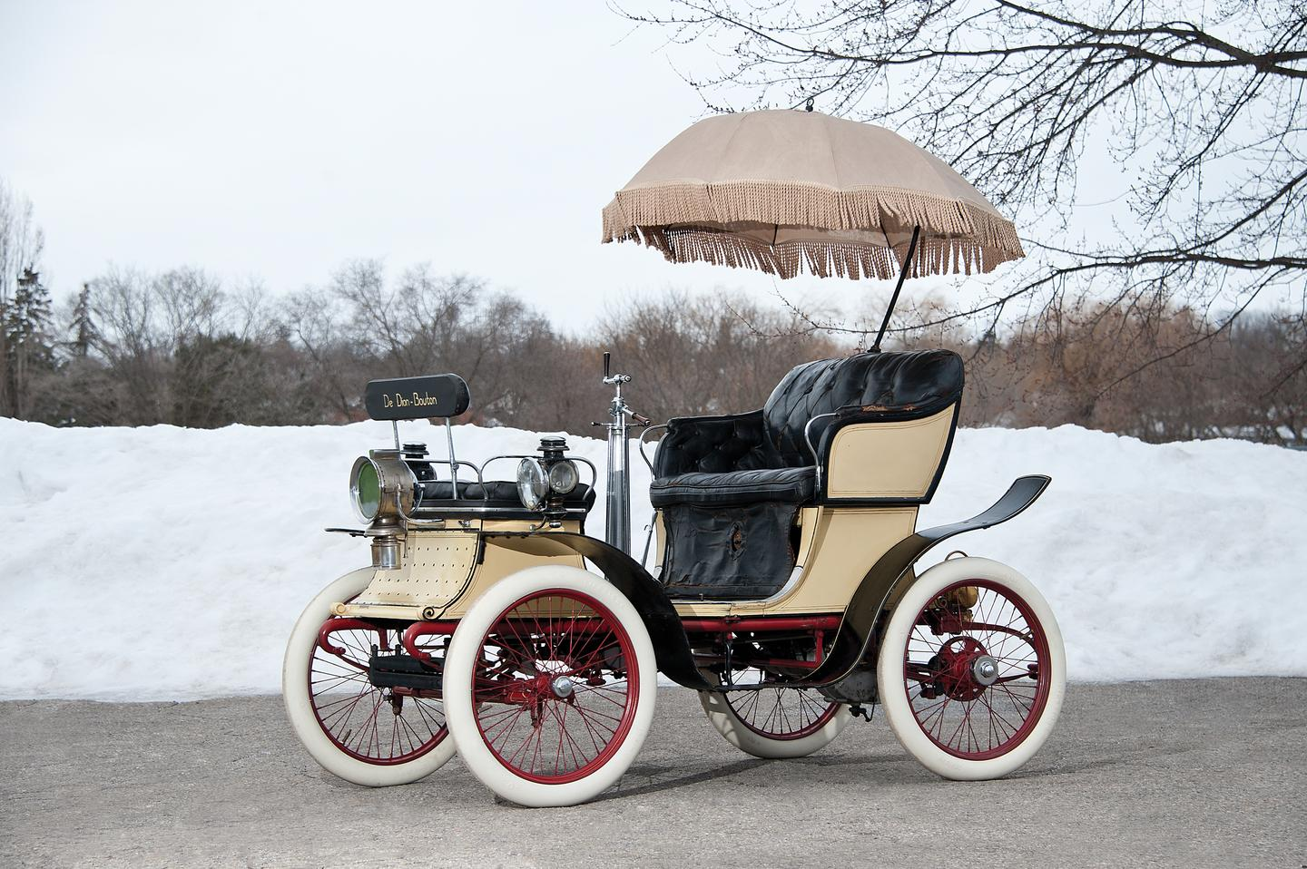 A group of entrepreneurs set up the De Dion-Bouton Motorette Company in New York in 1900. This 1901 De Dion-Bouton is one of the very few surviving Brooklyn-built New York Type Motorettes