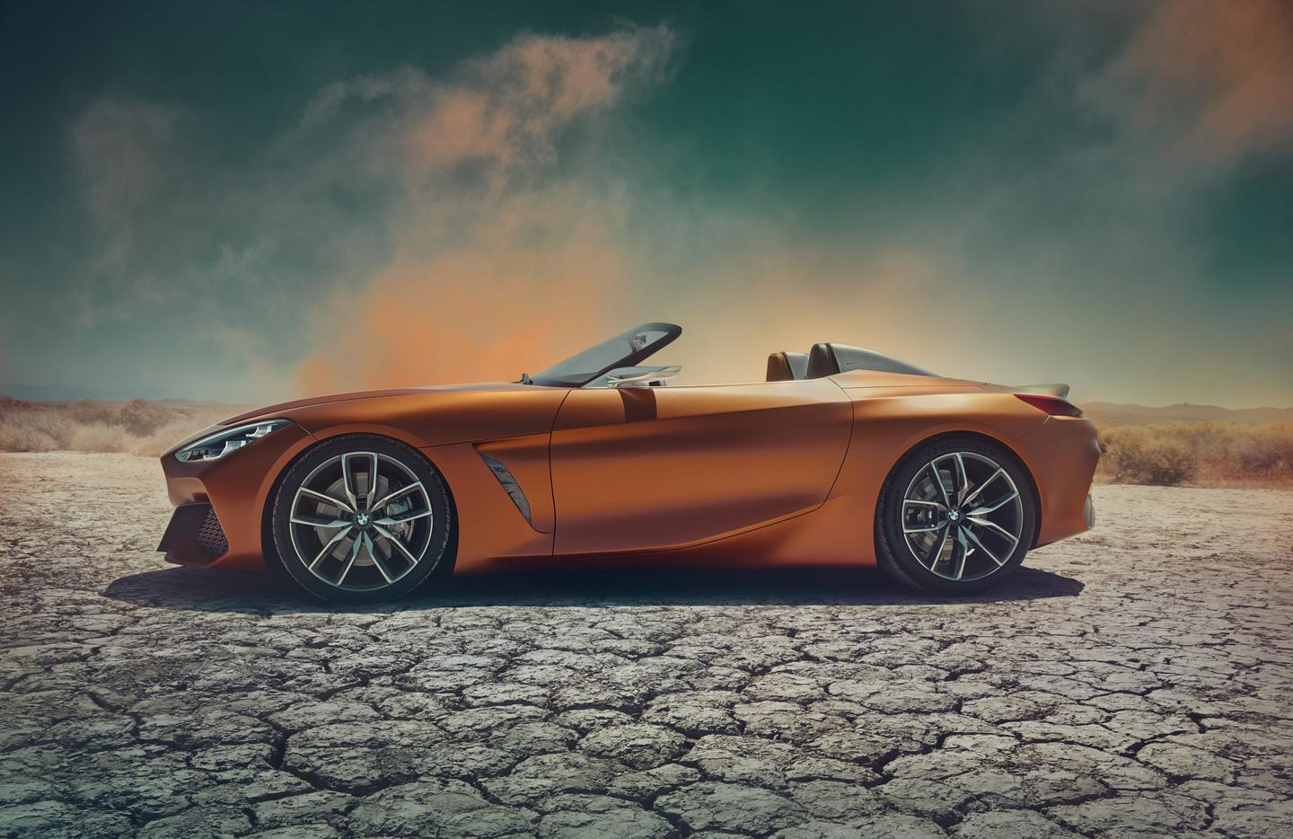 BMW says the Concept Z4 design follows a wedge shape