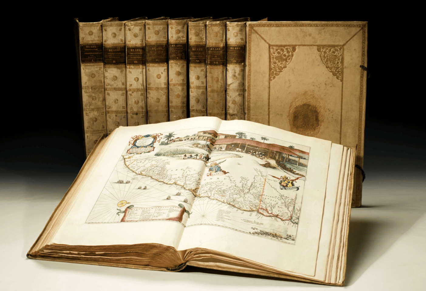 "The Grooten Atlas is one of the many remarkable achievements of a father and son who contributed so much to our understanding of the world. Both Dutch cartographers, atlas and globe makers and publishers, Johannes Blaeu (1596 – 1673) was the son of cartographer Willem Blaeu (1570 - 1630). The Atlas Major was published between 1662 and 1672, and the Dutch version was named the Grooten Atlas. It was the largest and most expensive book published in the 17th century and in the auction description of the most valuable copy sold to date (sold by Sothebys in November, 2015 for $883,944 - £581,000) it was described as ""the most famous atlas in the history of printed maps"" and ""the most magnificent work of its kind ever produced."" This copy sold for $567,366 (£389,000) by Sothebys on April 28, 2016."