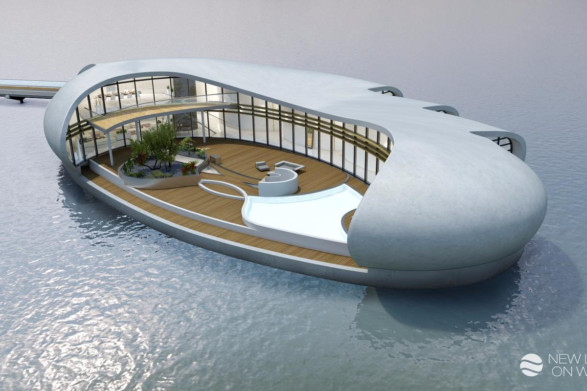 The floating homes have been designed to offer residents privacy, comfort and a connection to nature