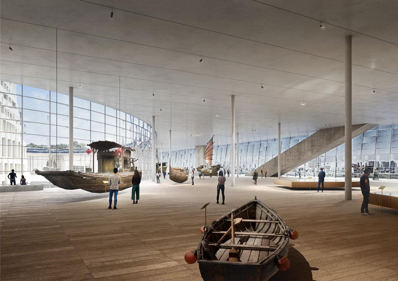 Most of the interior of the Grand Canal Museum Complex will be given over to large exhibition spaces
