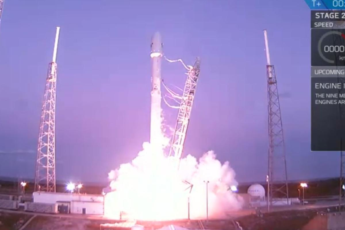 SES-9 lifting off from Cape Canaveral
