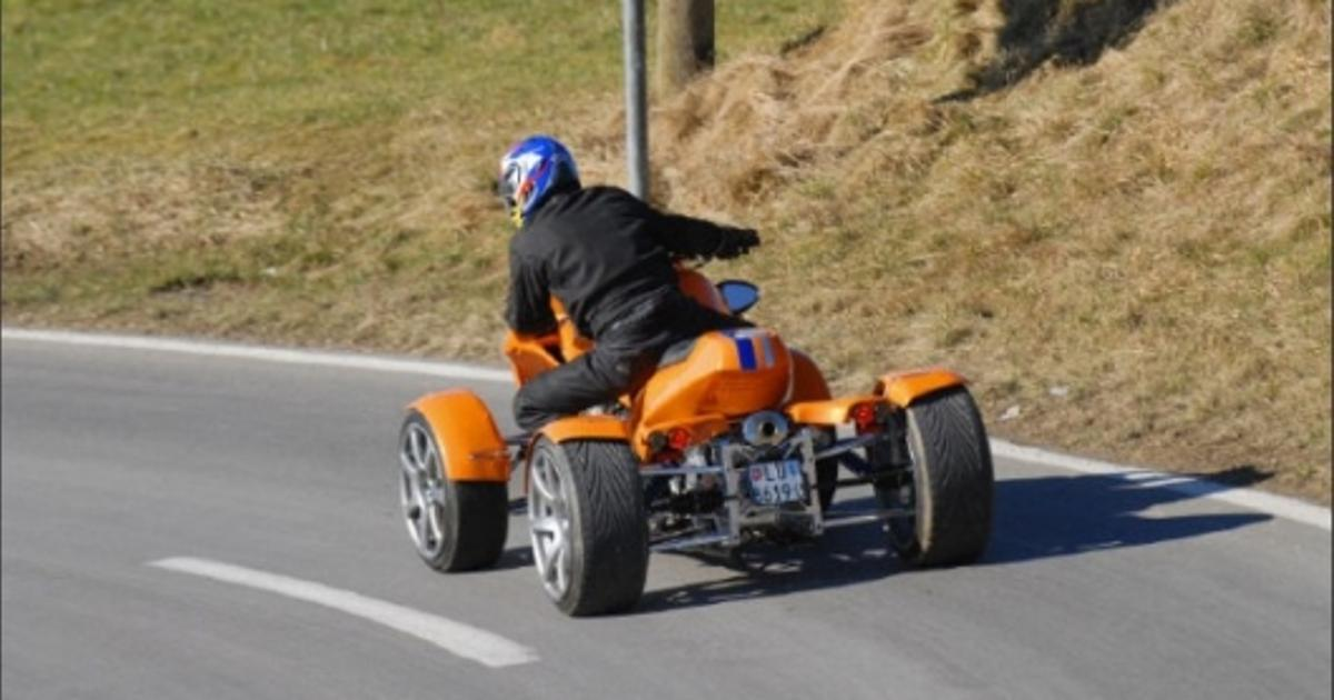 The GG Quadster - a four-wheeled, 167-horsepower quad bike