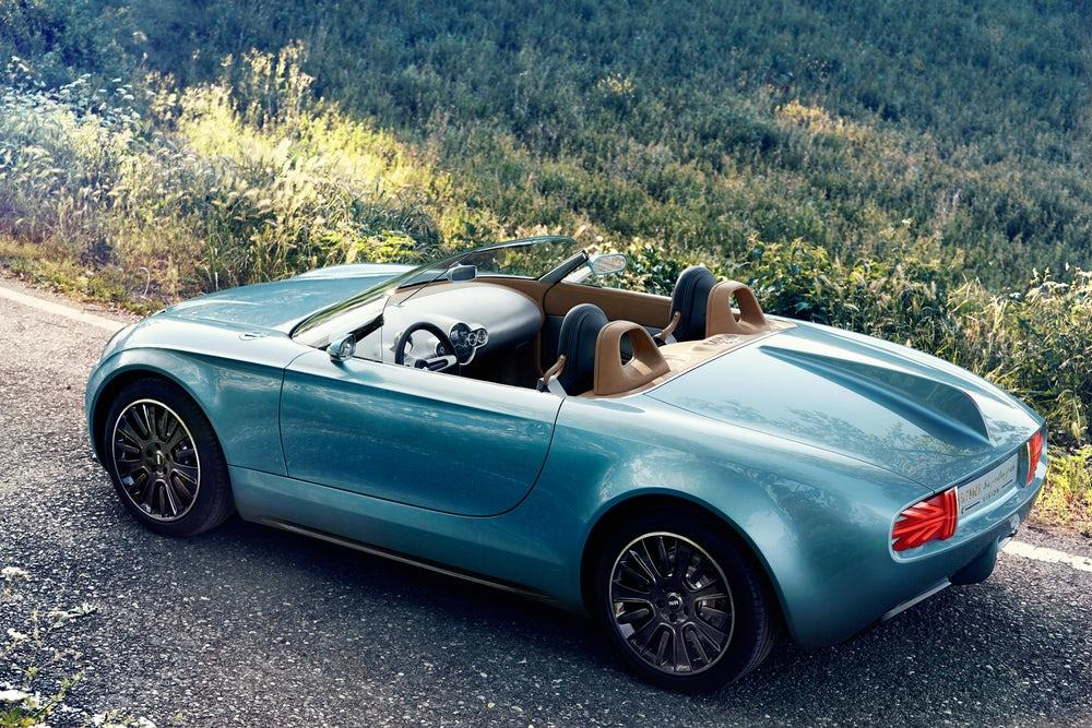 Mini and Touring Superleggera teamed up on this electric Vision roadster back in 2014