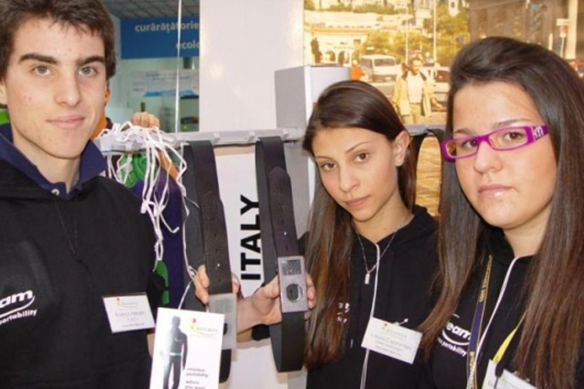 Team J.A. from Italy, JA-YE winners with their winning iBelt idea.