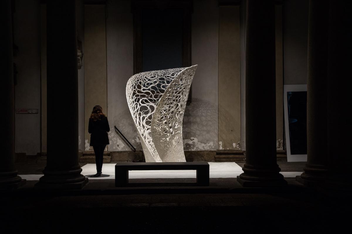 ZHA'sThallusison display at Milan Design Week until April 9