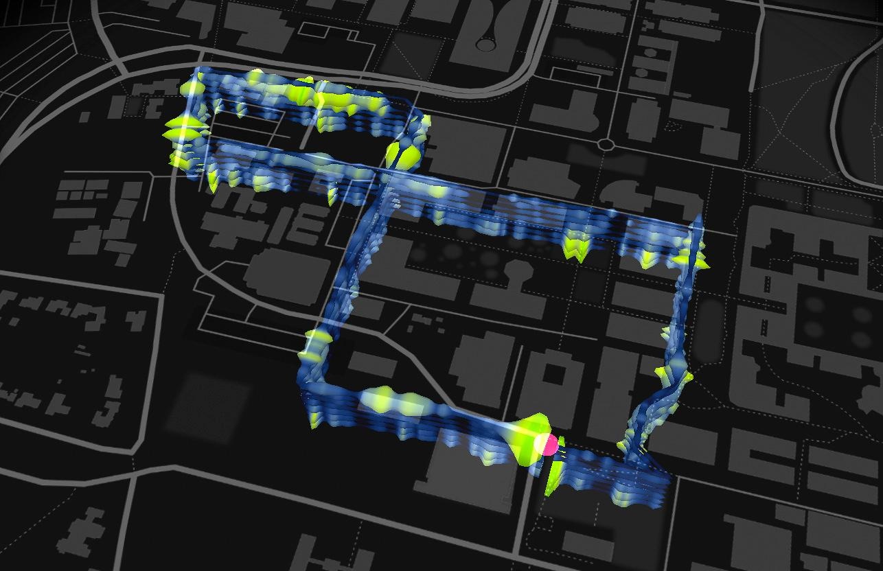 A 3 mile (4.8 km) loop of fiber optic cableburied underneath Stanford University was able to detect 800 seismic events over the course of a year