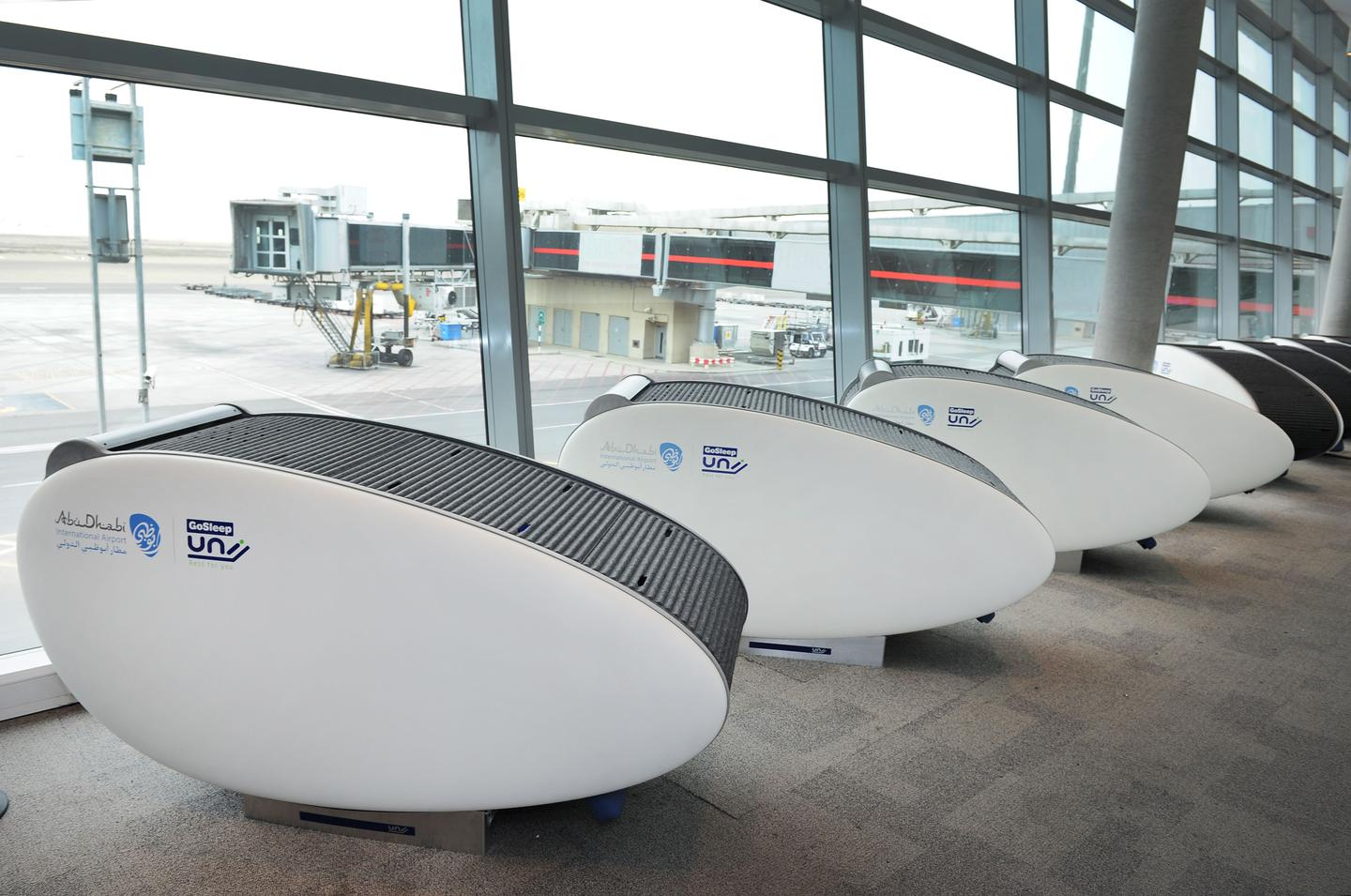 Ten GoSleep pods have been installed at Abu Dhabi International Airport to give weary travelers a private place to rest up