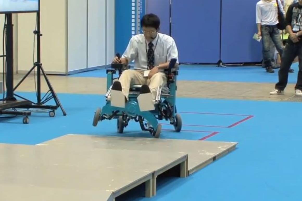 The Chiba Institute of Technology robotic wheelchair in action