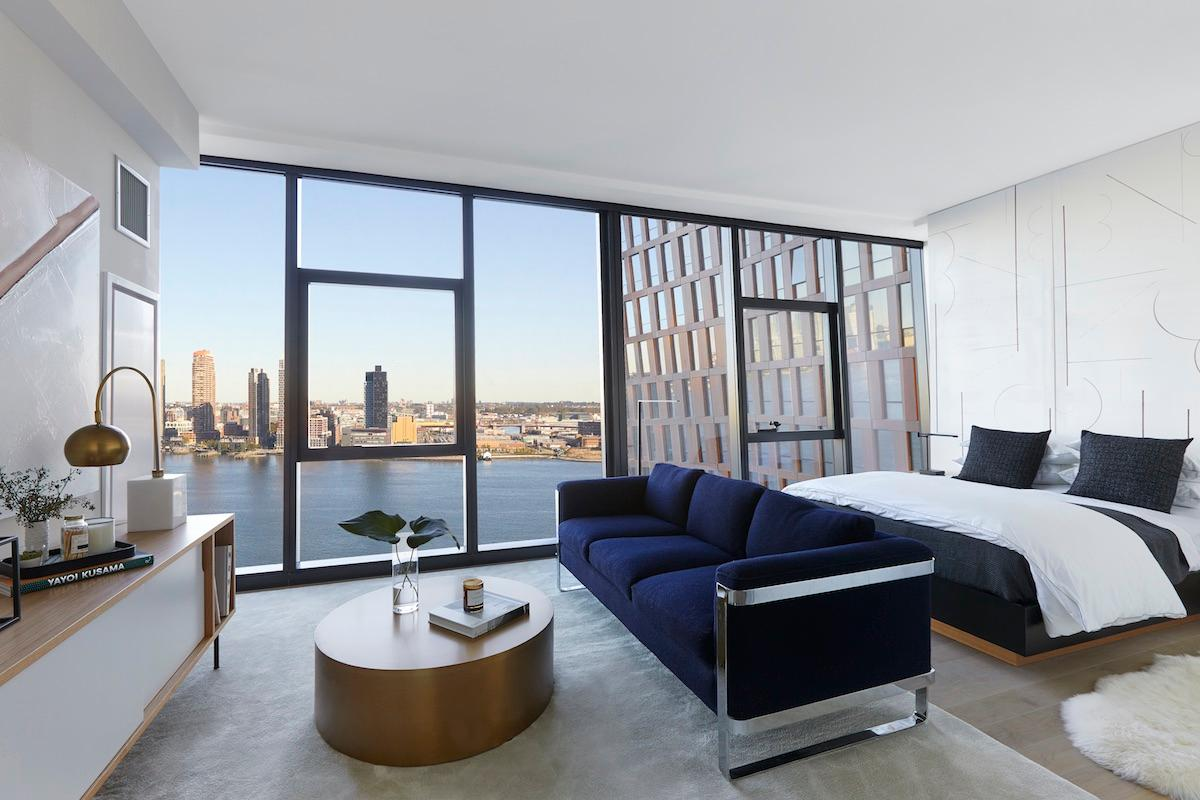 The American Copper Buildings' 761 residences rangefrom studios to three-bedroom apartments, with 300 unique interior layouts