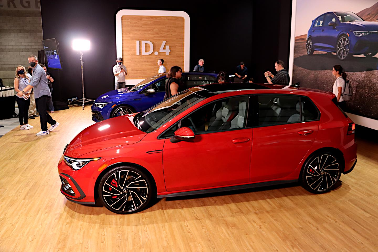Debuting at the Chicago Auto Show were the Volkswagen Golf GTI (shown) and Golf R