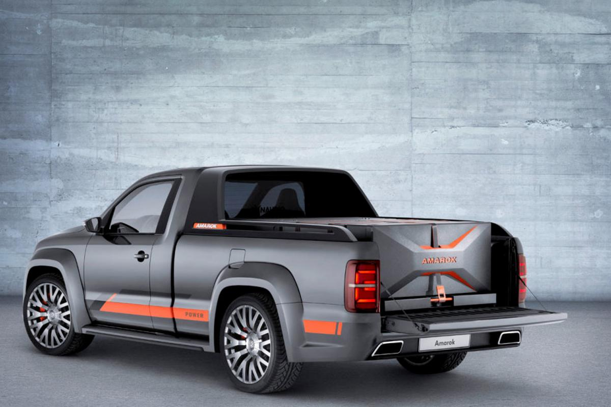 The audio package packs neatly into the Amarok's cargo bed