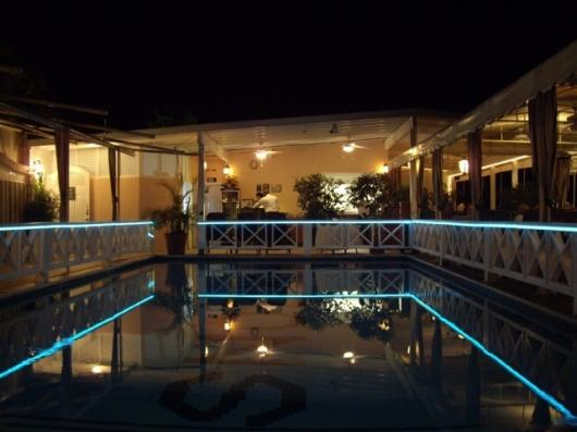 Light Tape works beautifully to highlight a pool area