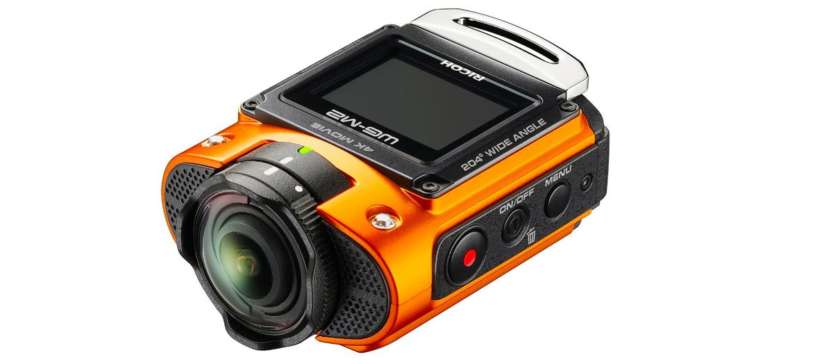 The Ricoh WG-M2 is a 4K-shooting action camera with an ultra-wide lens