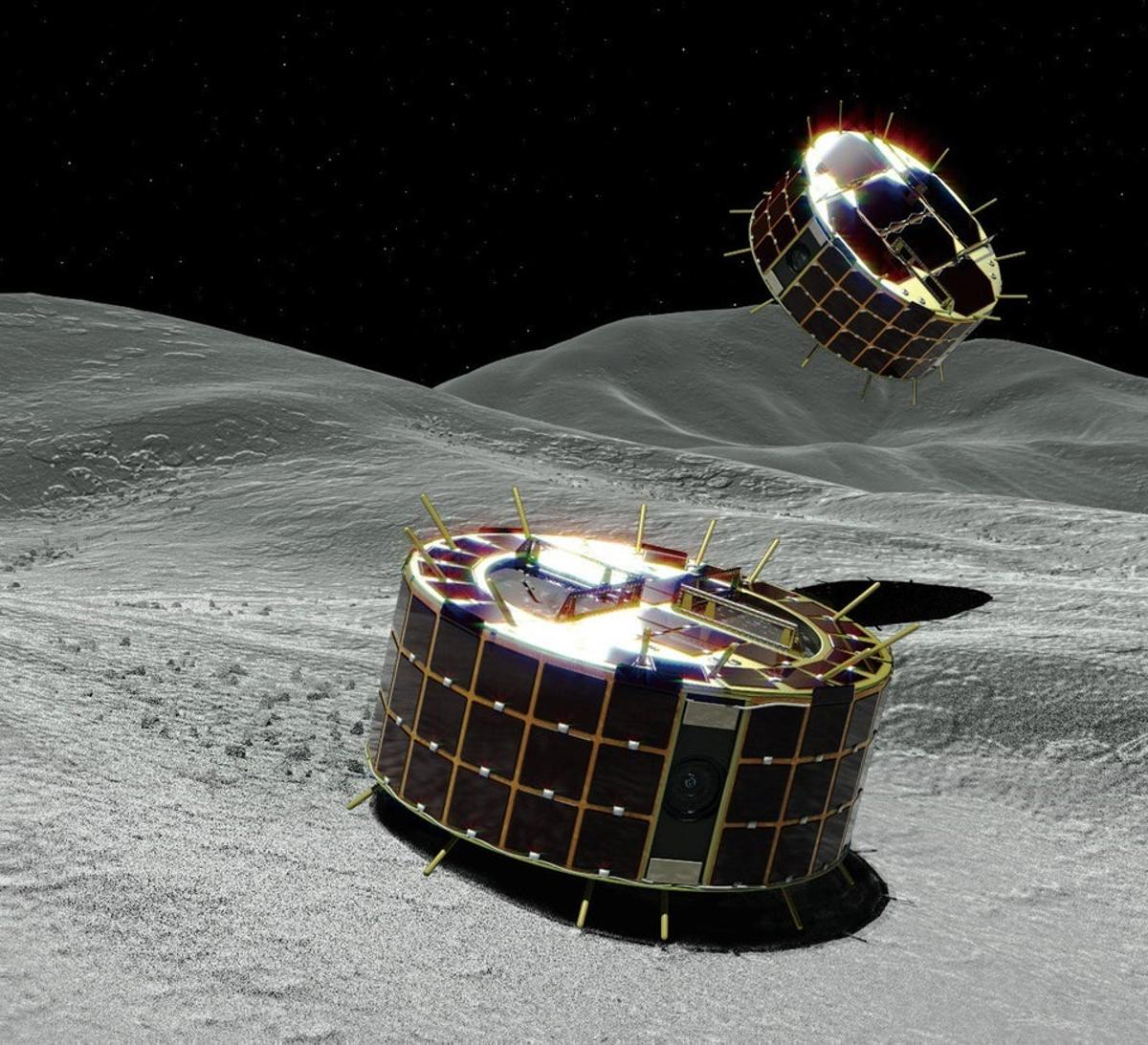Artist's concept of the two MINERVA-II1 rovers