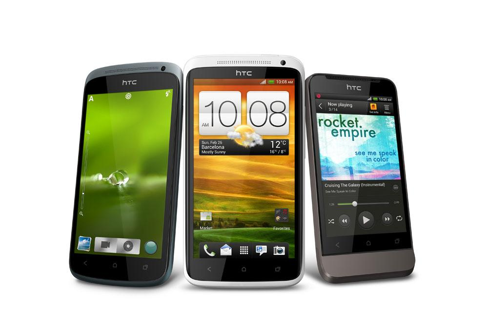 The HTC One family includes the S, X and V (Photo: HTC)