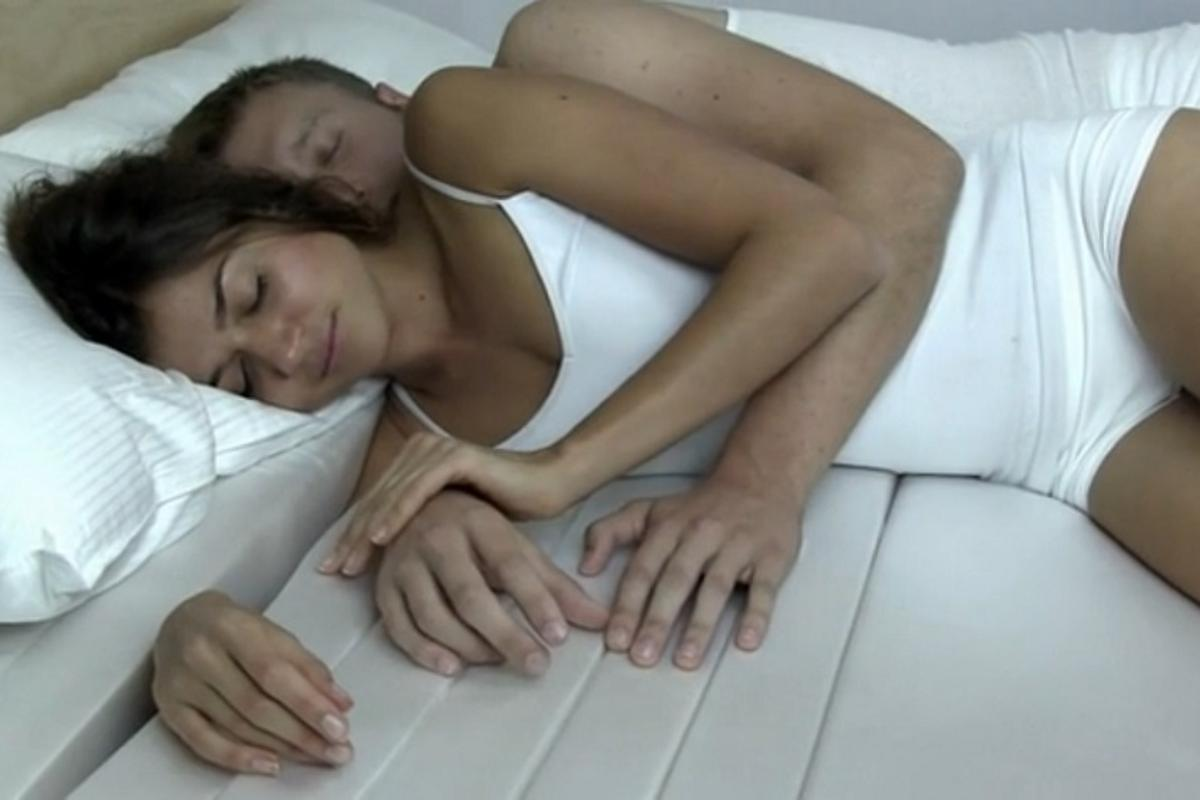 The Cuddle Mattress is designed to give your arm room to maneuver when cuddling up to your significant other