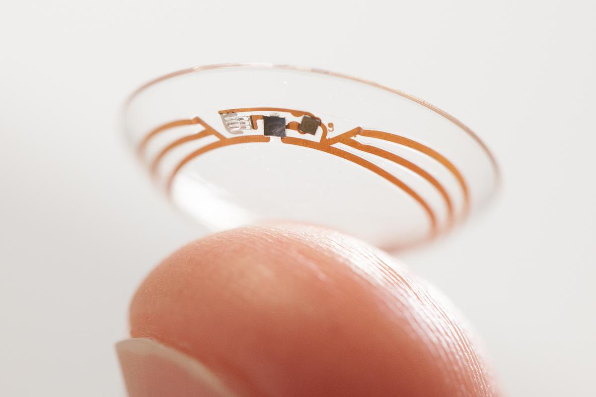 Google has explored the idea of a glucose-monitoring contact lens