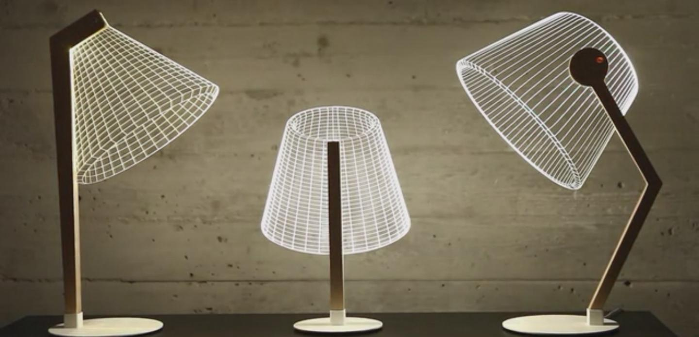 The Bulbing Lamps from Studio Cheha create 3D shades using an optical illusion