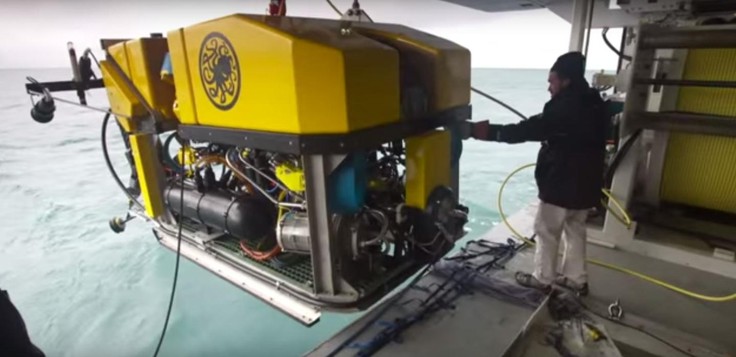 The ROV used to recover the bell of HMS Hood