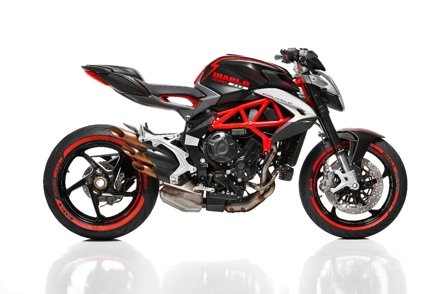 The Diablo Brutale is a special one-off show bike based on the MV Agusta Brutale 800