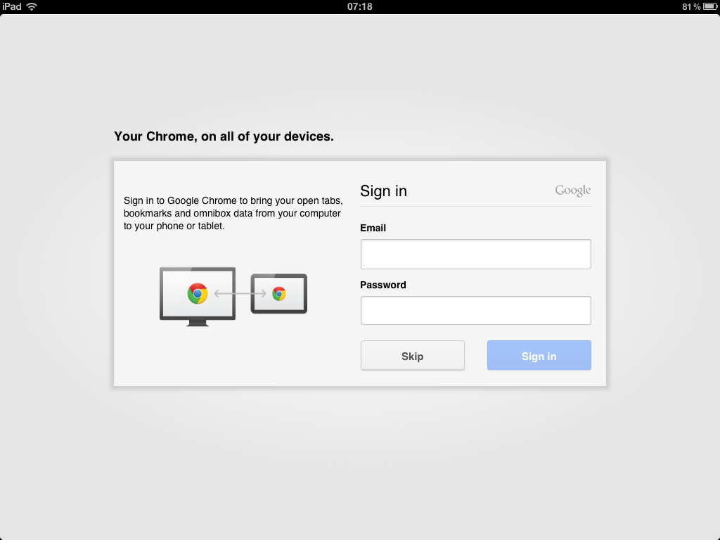 Chrome allows tab and bookmark syncing with the use of a Google ID