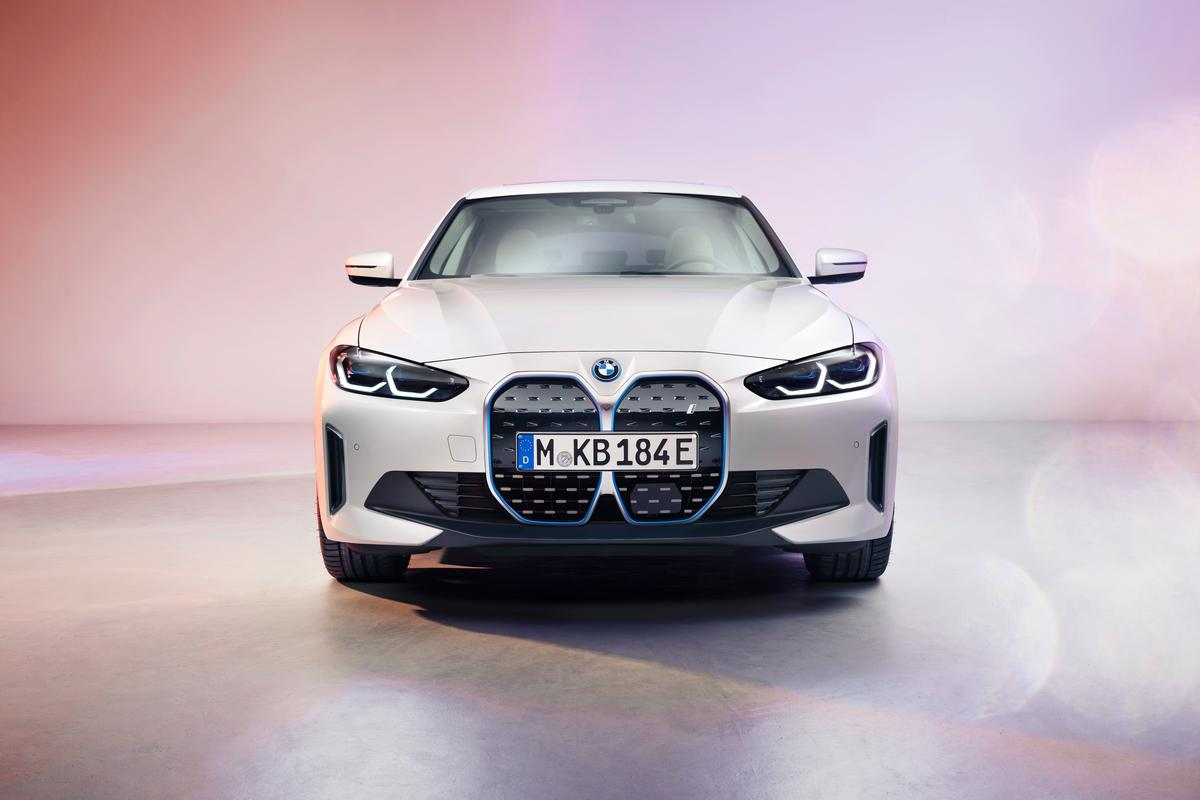BMW shows a first look at the i4 electric sedan's grille ... and the rest of the car