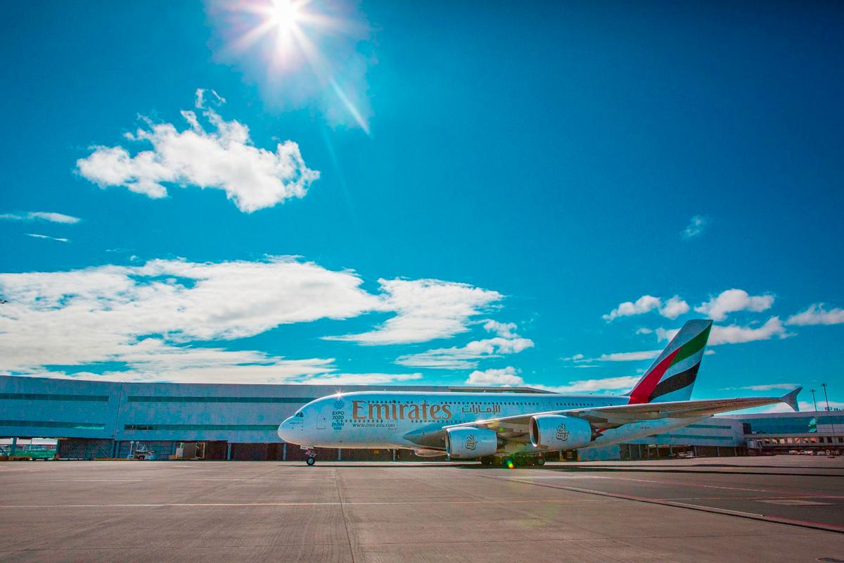 The maiden UAE448 flight from Dubai to Auckland took 14 hours, 40 minutes