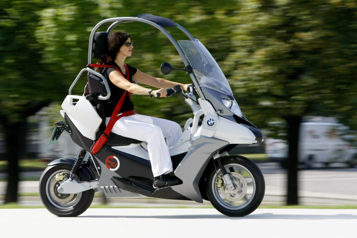 BMW has brought back the C1 as an electric-powered concept scooter called the C1-E
