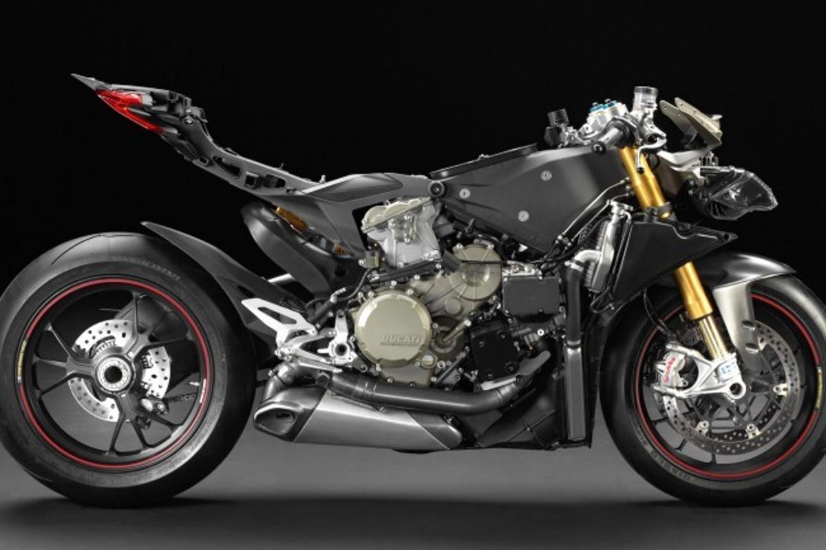 The Ducati 1199 Panigale looks like a bucket of slop with its clothes off