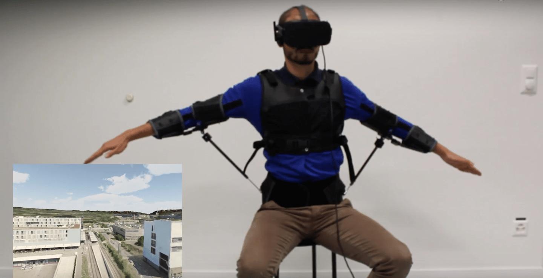 A new way to fly?The FlyJacket exoskeletonin action