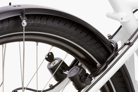 The ABUS lock on the Load e-bike