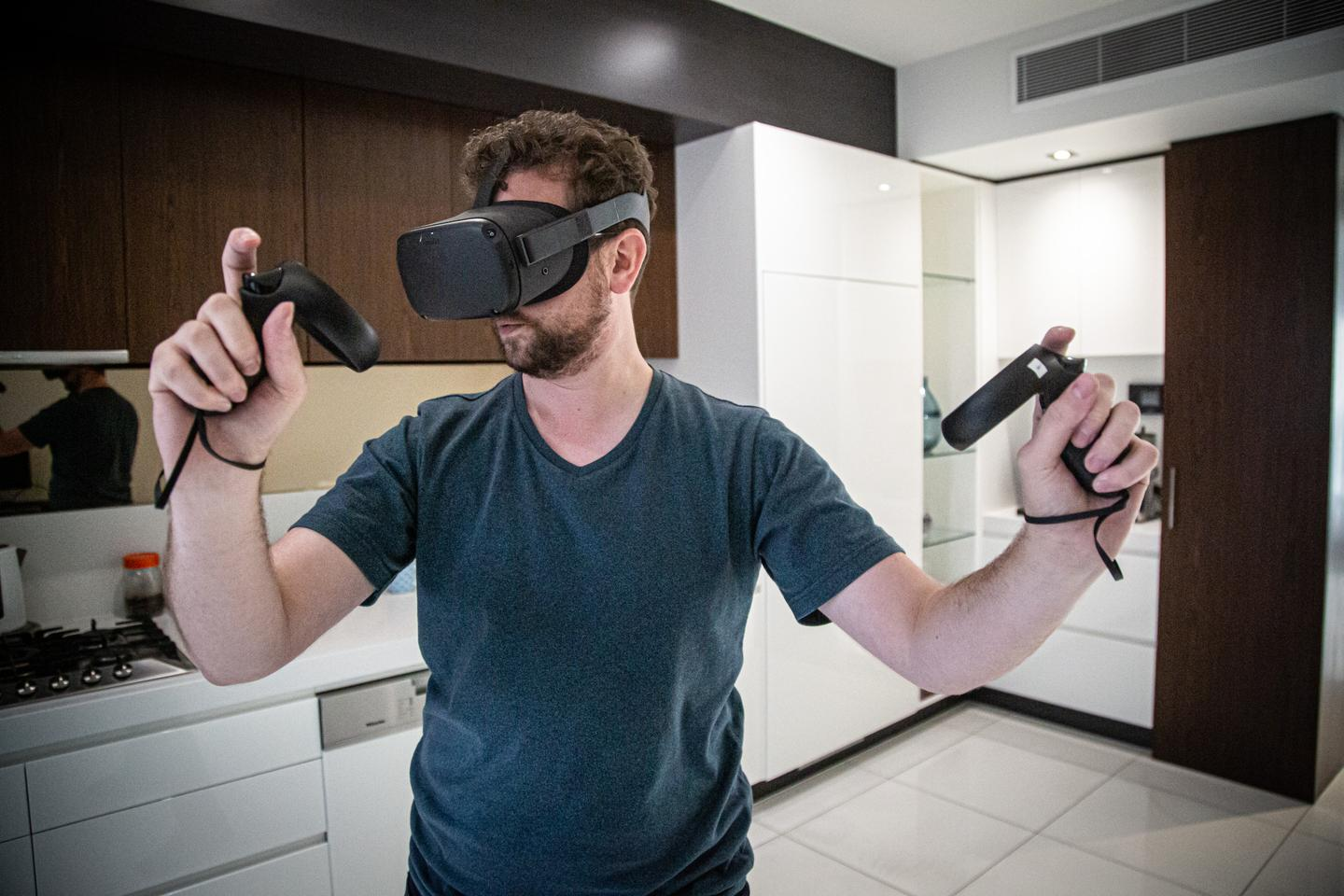 Setting up a room-scale or outdoor VR playing area is a breeze