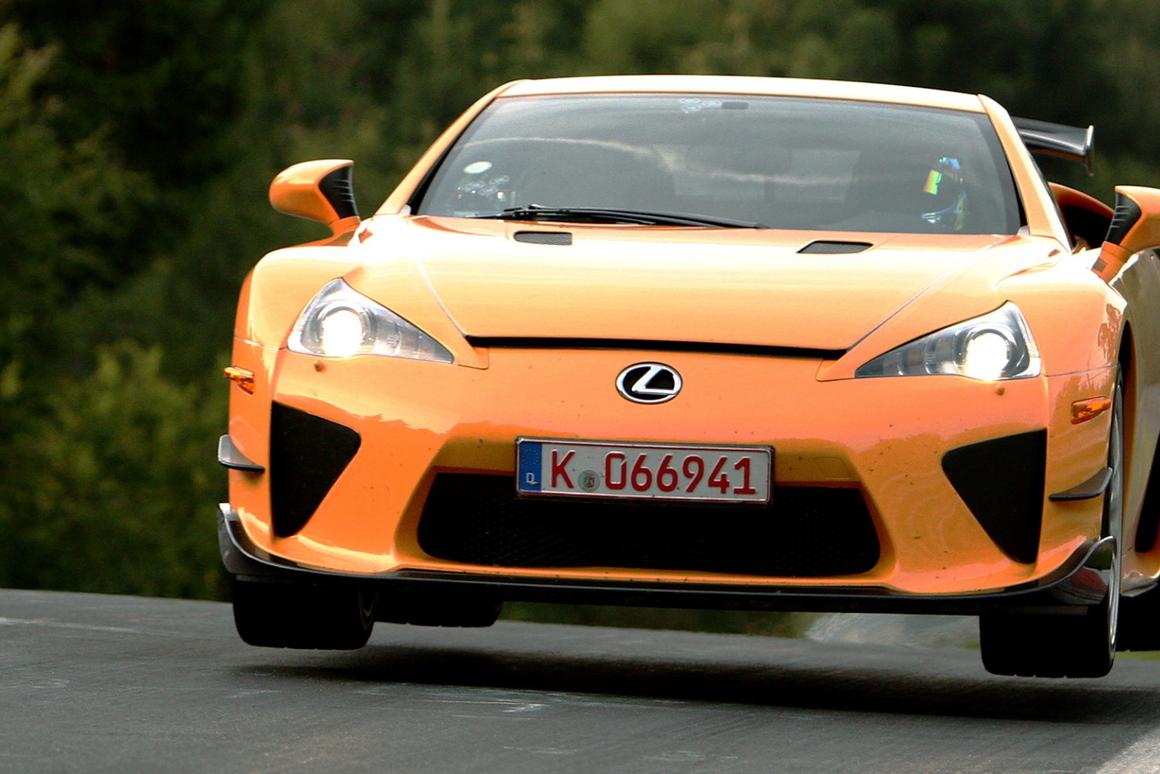 Only 500 Lexus LFA supercars were built, and only 50 of them were blessed with the Nurburgring package and a $465,000 price tag when they sold in 2012. Thanks to one of them setting a Nürburgring Nordschleife production lap record of 7:14.64 in 2011 (an unofficial record for a production car on non-competition tires), LFA Nurburgring models are now selling for a lot of money - one sold for $825,000 in January (2018), and another for $770,000 in April.
