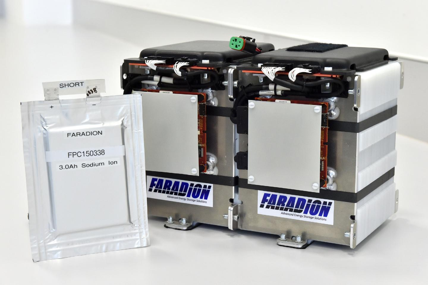 The sodium-ion battery pack, which was made by Williams, incorporates sodium salts made from common salt