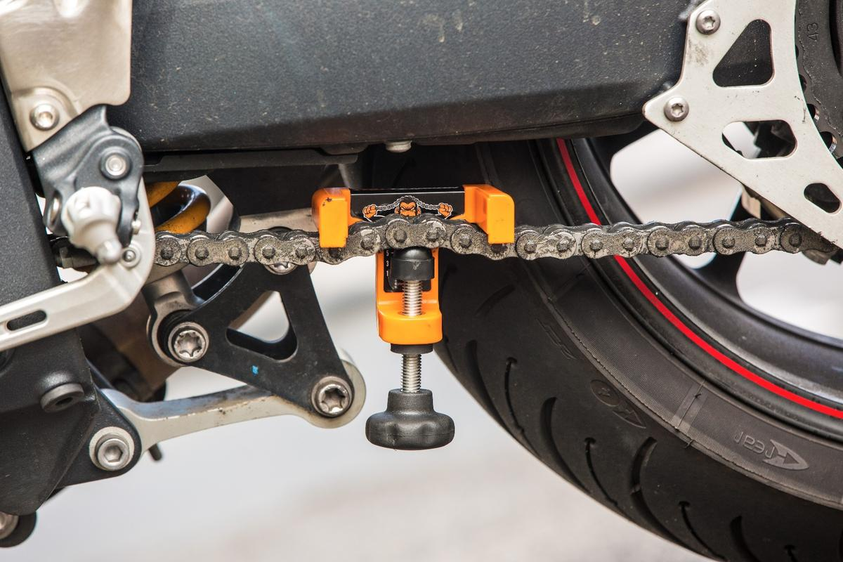 Chain Monkey gives you the perfect amount of slack when you're adjusting your chain.