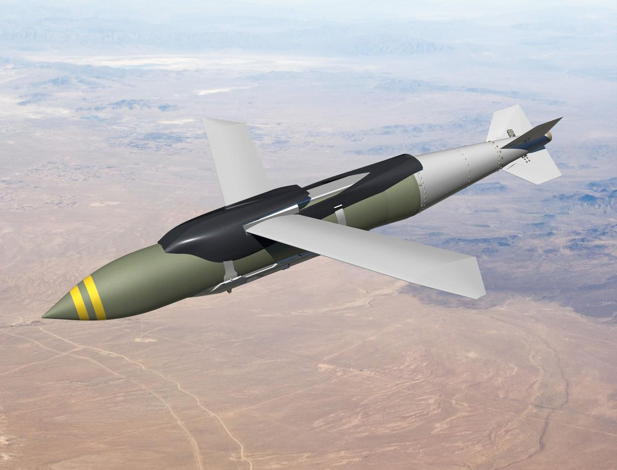 The Joint Direct Attack Munition-Extended Range (JDAM-ER) precision bomb kit developed by Boeing and Australia's Defence Science and Technology Organisation (Image: Boeing)