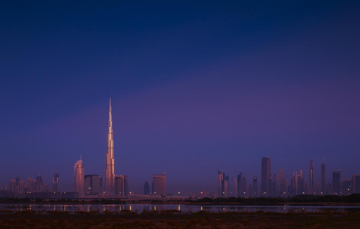 Around 11 Boeing 747-8 airplanes would need to be stacked, tail to tip, to reach the height of the Burj Khalifa