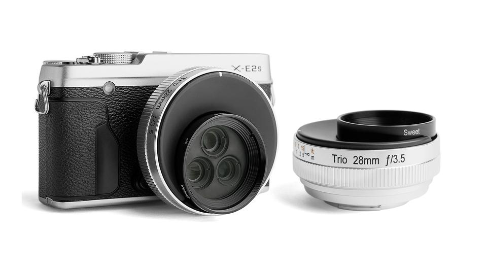 The Lensbaby Trio 28 is a three-in-one creative effect lens for mirrorless cameras