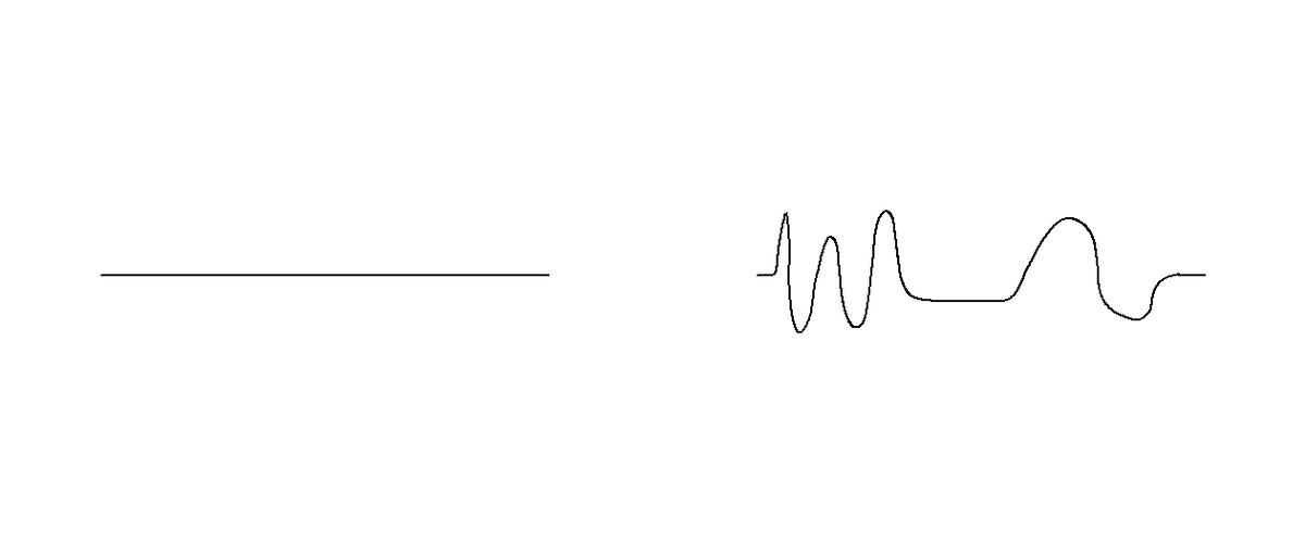 A 1D analog to a plug with more volume than the hole it fills is a curve with more length that the (external) distance between its endpoints (Image: B. Dodson)