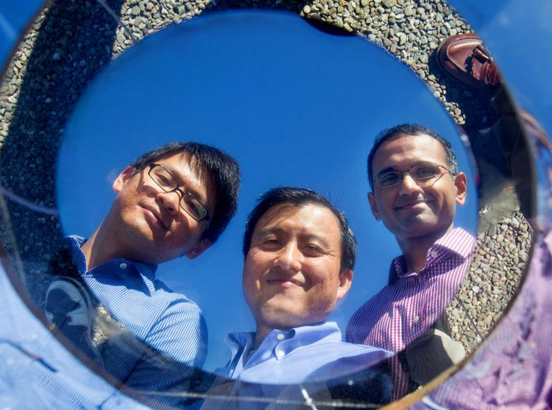 The Stanford researchers demonstrate the highly-reflective properties of their optical film, which can reflect 97 percent of sunlight to keep the surface cool
